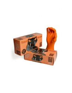BLACK MAMBA Orange Nitrile Gloves Rozmiar M