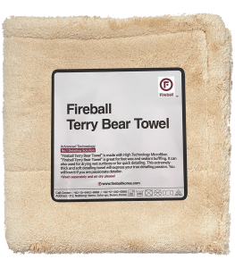 Fireball Terry Bear Buffing Towel 40x40cm