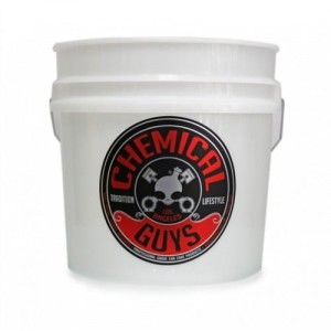 Chemical Guys Heavy Duty Detailing Bucket with label 17L