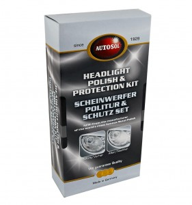 Autosol Headlight Polish & Protection Kit