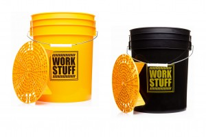 Work Stuff Detailing Buckets Yellow WASH + Black RINSE + SEPARATORY! ZESTAW!